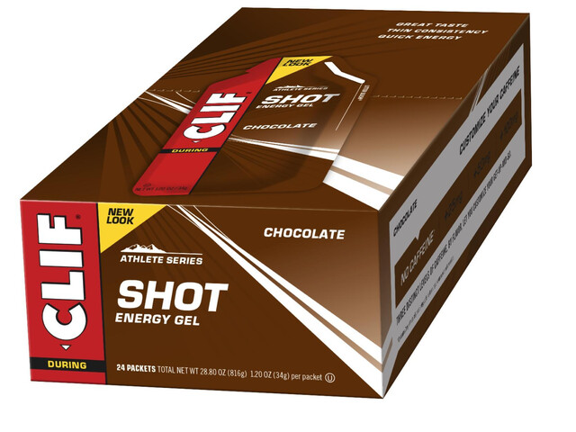 CLIF Bar Shot Gel Box Chocolate 24 x 34g